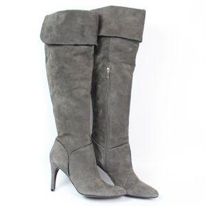 Enzo Angiolini Irinna gray suede over knee boot